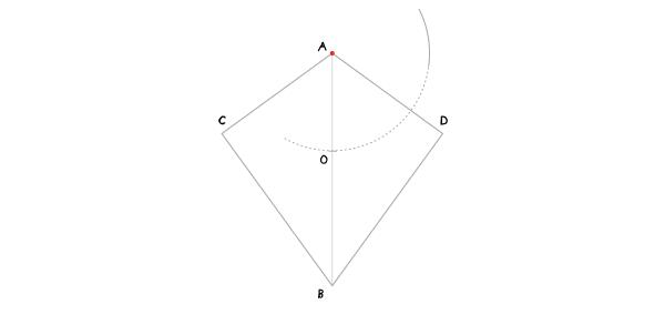 Circle in a kite step 3