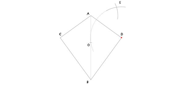 Circle in a kite step 4