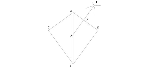 Circle in a kite step 5