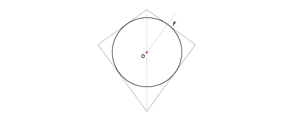 Circle in a kite step 6