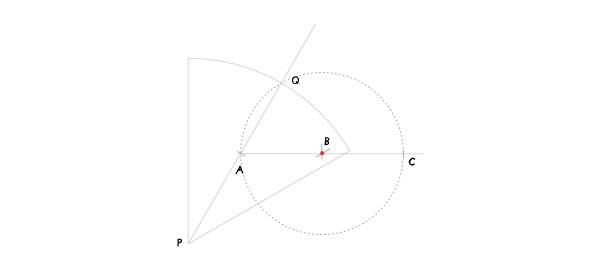 Circle in a sector step 5