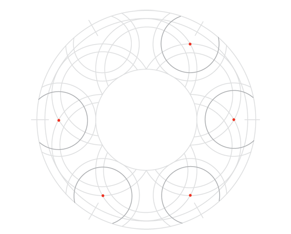 Knot in circle step 9b