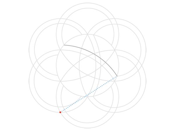 Rose-shaped knot step 4b