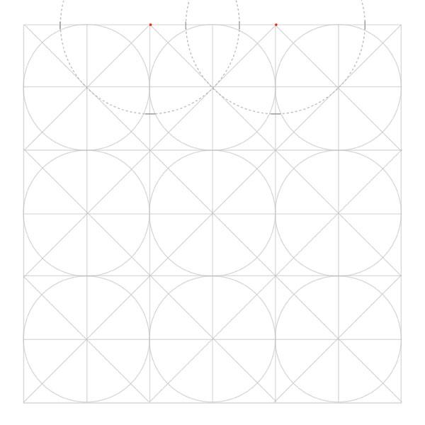 Eightfold rosette step 3