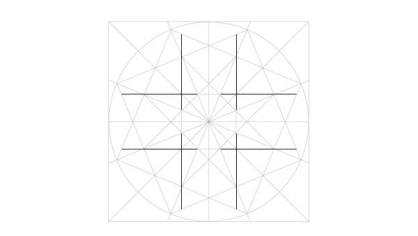 Eightfold rosette step 10