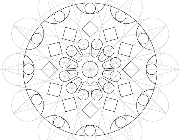 Rose window step 37