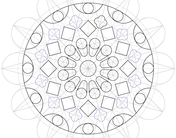 Rose window step 42