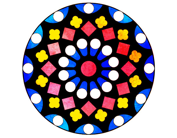 Rose window coloured
