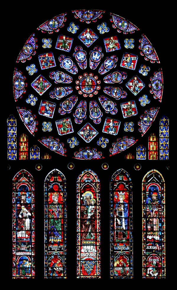 Geometric design the north rose window in chartres for Rose window design