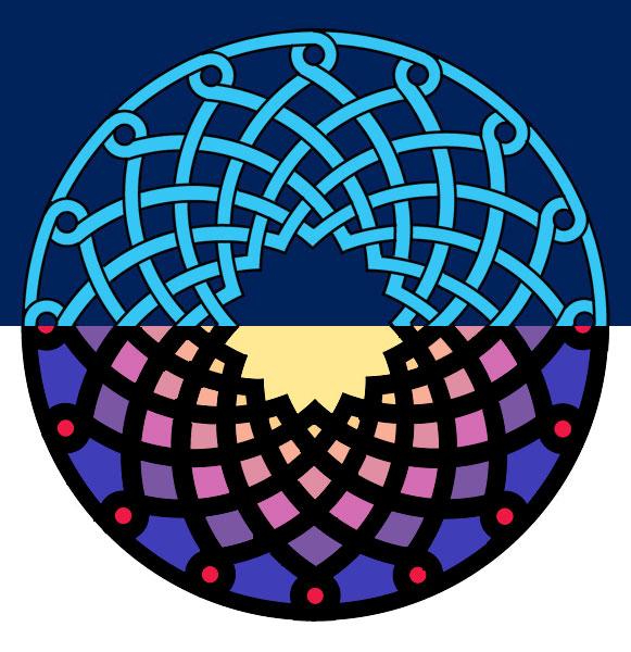 Геометрический дизайн: армянский узел