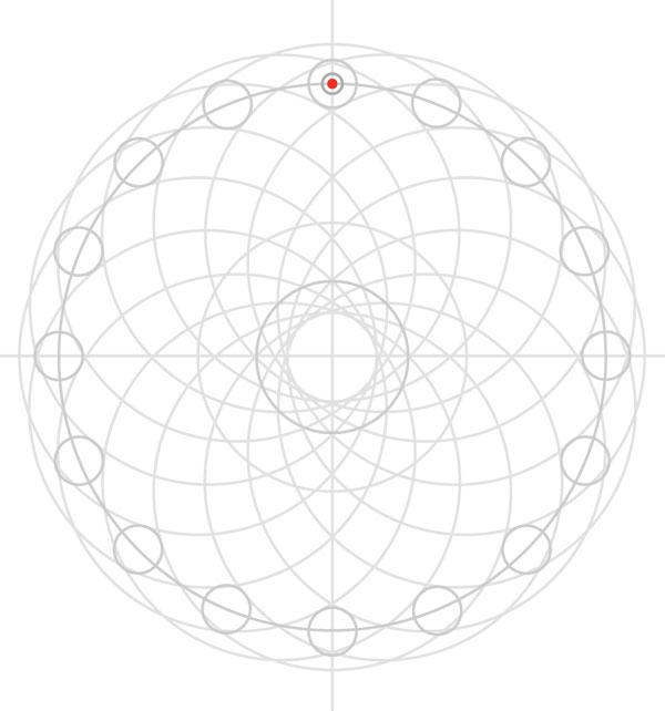Armenian knot step 19