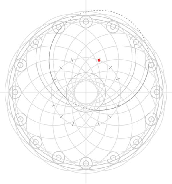 Armenian knot step 23