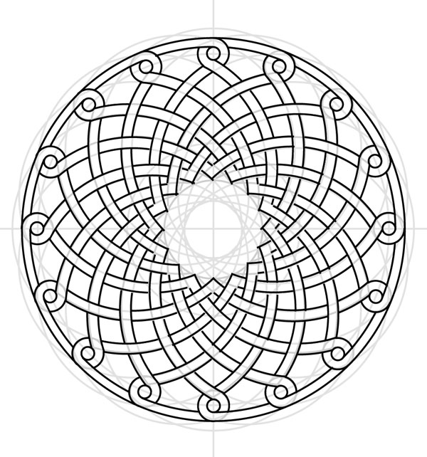 Armenian knot step 27