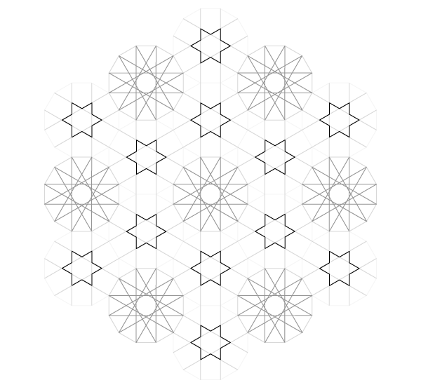Pattern from the Cordoba Synagogue step 17
