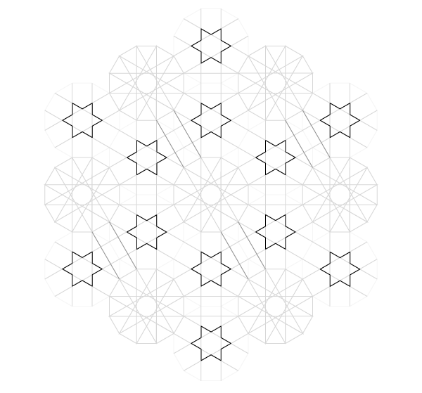 Pattern from the Cordoba Synagogue step 19