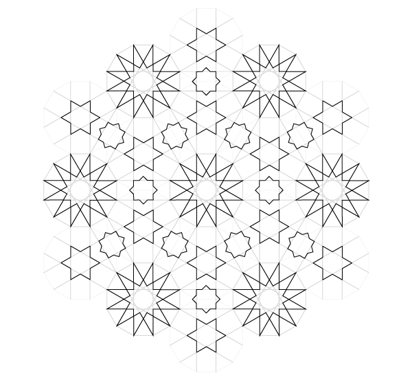 Pattern from the Cordoba Synagogue step 26