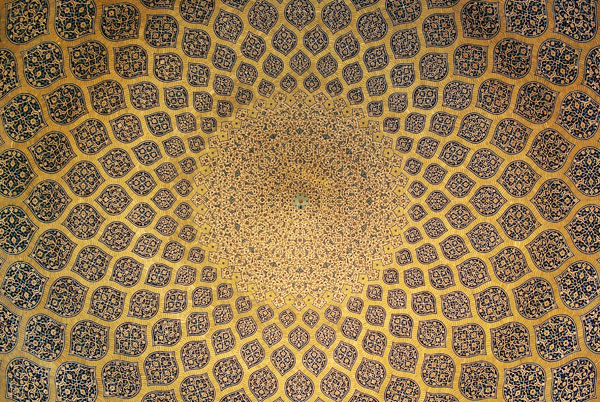 The dome of Sheikh Lotfallah Mosque in Ispahan Iran