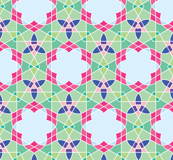 Geometric Design: How to Draw a Flowery Tiling Pattern