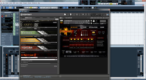 Shreddage II VST in the Kontakt 5 Sampler
