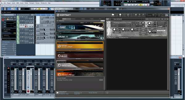 Shreddage Bass Loaded in the Kontakt 5 Sampler
