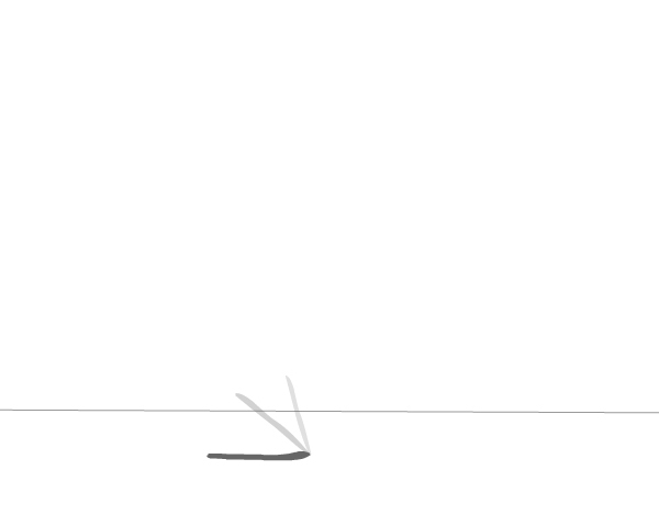 Pencil falling over