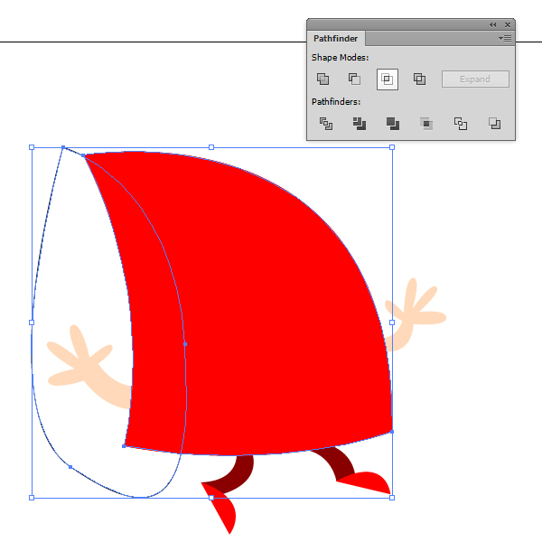 Use the Intersect Pathfinder tool to create the shade