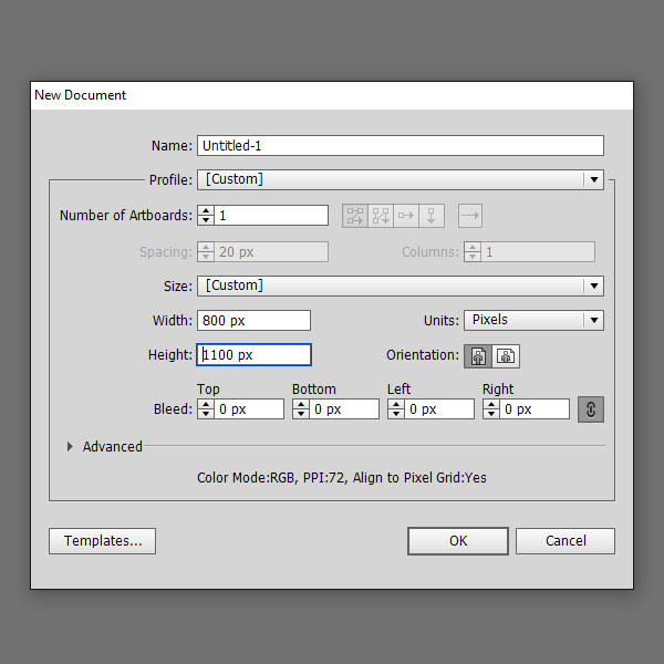 Create a new print document