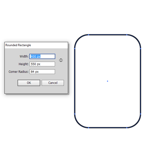 Use the Rounded Rectangle Tool