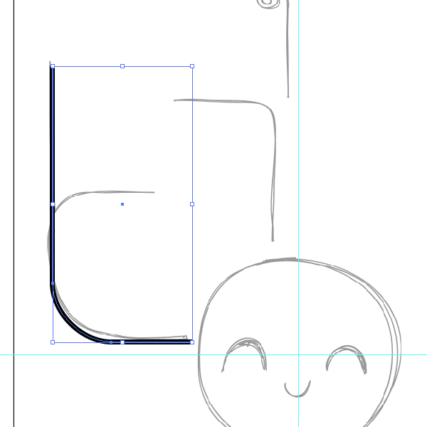 Position this line over the sketch