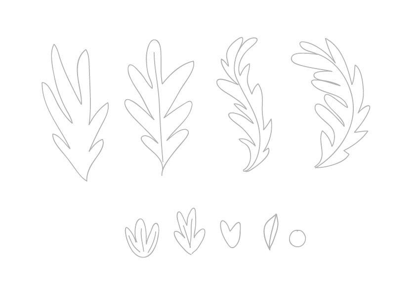 Sketch some leaves