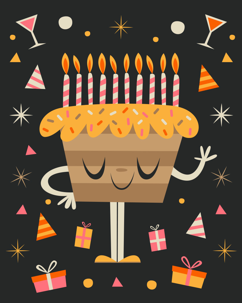 Create A Retro Inspired Capsule Wardrobe: How To Create A Quirky Birthday Illustration In Adobe