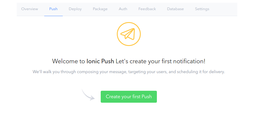 create your first push