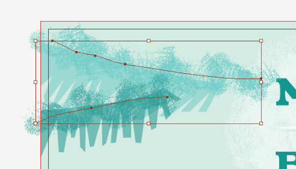 Drawing lines on the branches with the Scatter Brush