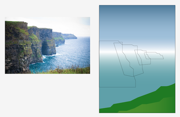 drawing cliff shapes with pen tool
