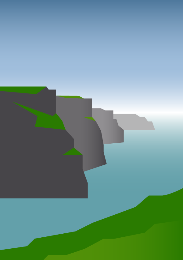 adding grass to cliffs