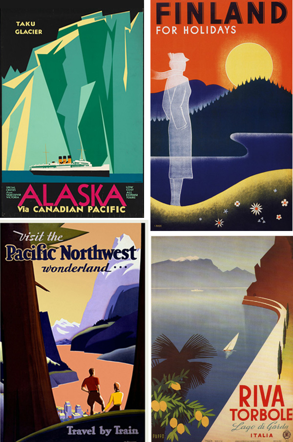 how to design a vintage travel poster in adobe illustrator