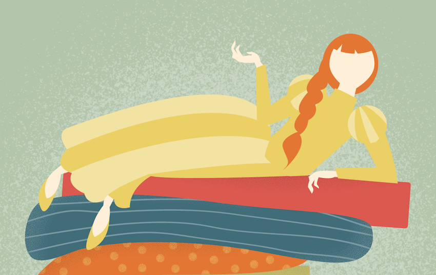 adding color to princess illustration