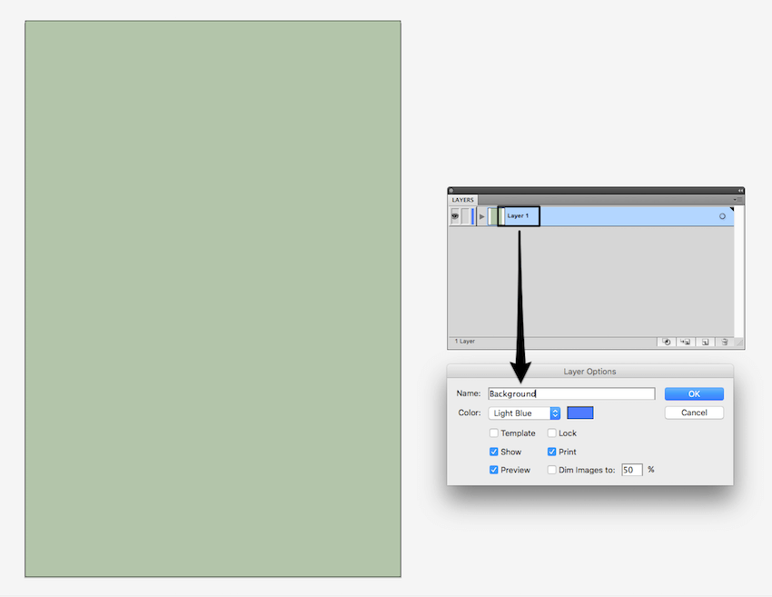 creating background layer