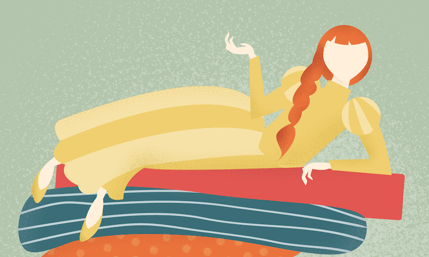 adding texture to princess illustration