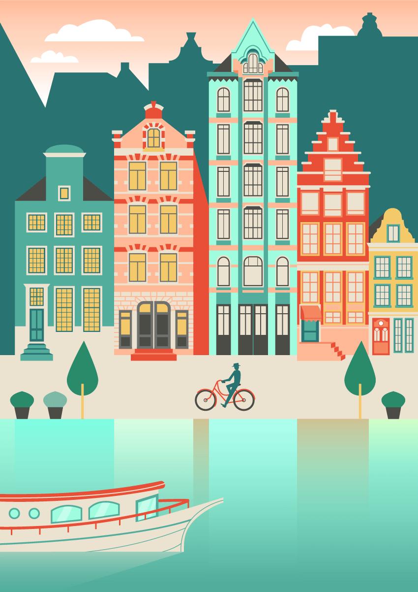 Bagaimana Membuat Sebuah Pemandangan Kota Amsterdam Dalam