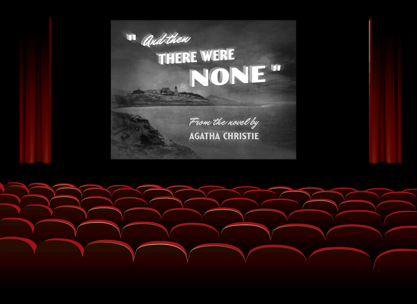 film noir title card display