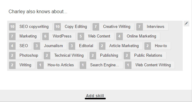 linkedin skills section find keywords for resumes