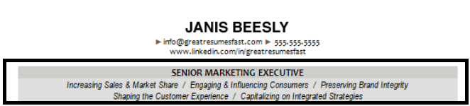sample header reverse chronological resume