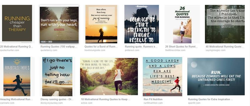 "a68ca512b3 A Google image search results for ""Running Quotes"" shows several ideas you  can put on a wall decal for runners."