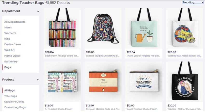 Search results for bags on Redbubble for the job niche teacher