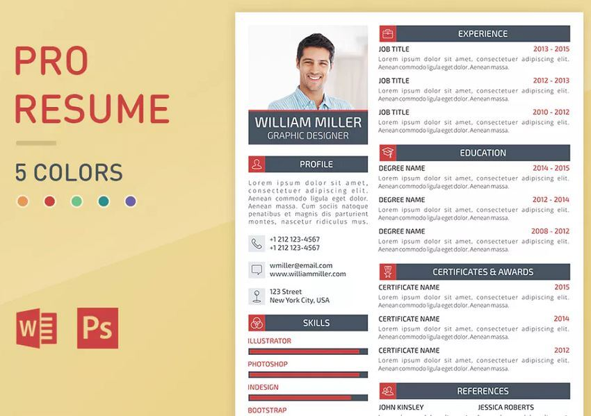 Graphic Resume Template Font