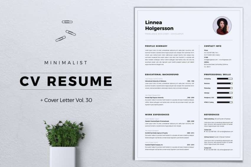 Resume-template-with columns