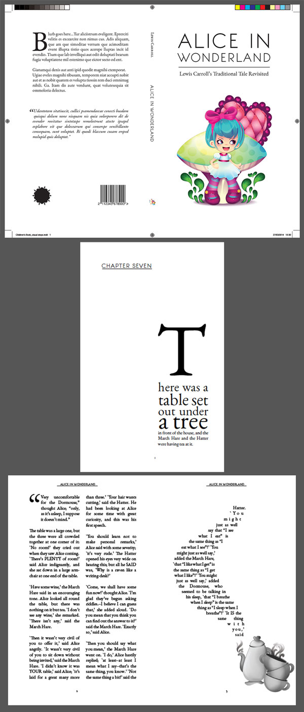 Book Cover Layouts : Create beautiful page layouts and a striking cover for