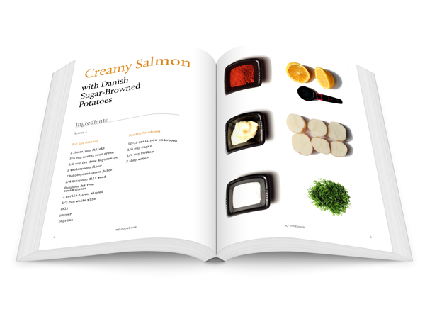 Design Striking Layouts For Your Own Cookery Book Using