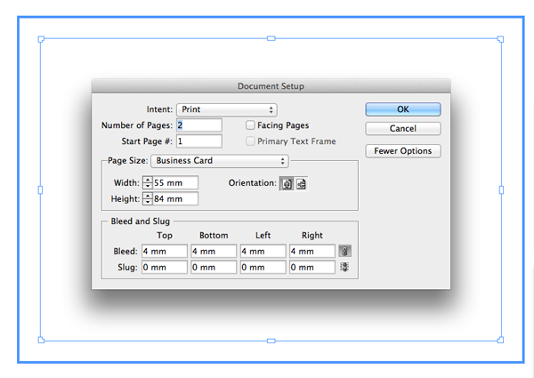 Get yourself noticed create a simple business card in indesign go to page 1 of the document and use the rectangle tool m to create a frame that extends across the whole card up to the edges of the bleed reheart Images